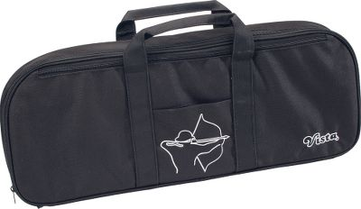 Ideal for your takedown recurve bow up to 66. Sturdy foam with pre-cut pockets offers padded protection. Inside mesh zippered pocket and outside slash pocket. Imported. Dimensions: 25L x 10W x 2.5D. Color: Black. Type: Bow Cases. - $39.99