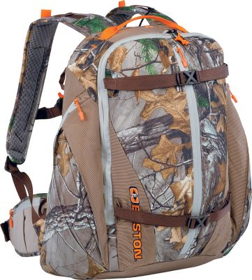 Hunting Every hunter needs a good day pack, and the Easton Stakeout S13 Hunting Pack leaves nothing to be desired. Padded, adjustable waistbelt and shoulder straps provide all-day comfort. Six internal pockets and six external pockets hold all your accessories. An insulated, retractable seat pad keeps you comfortable during long glassing sessions. Roll-away rain cover delivers complete protection from the elements. Hydration-system compatible. Imported.Capacity: 1,800 cu. in.Empty weight: 2 lbs. 12 oz.Camo pattern: Realtree XTRA. Type: Hunting Packs. - $99.88