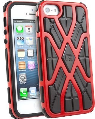 Entertainment The G-FormiPhone 5Cell-Phone Case is a protective case built for your iPhone 5. It features Reactive ProtectionTechnology (RPT). These advanced polymers stiffen on impact for a new level of protection. RPTabsorbs over 90% of impact energy, then instantly returns to its normal, flexible state.The open frame allows for full access to the iPhones touch screen, while the raised edge protects the display from harm.Colors: Black/Black, Black/Red, Red/Black, Silver/Black. Color: Black/Red. Type: Cell Phone Cases. - $23.88