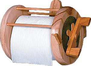 Entertainment Outfit your bathroom with a Rivers Edge Fishing Reel T.P. Holder that even clicks when you turn the handle. The wooden reel holds a standard roll of toilet paper and includes mounting hardware. - $19.99