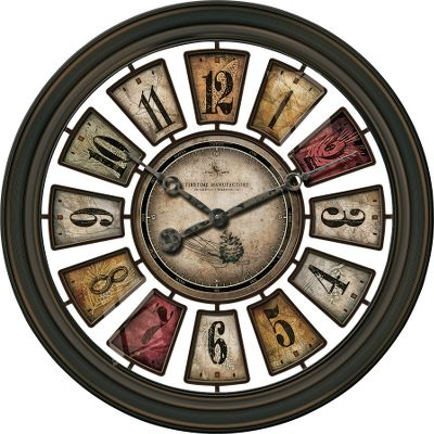 Outdoor-inspired hues accented with ghosted images make the Lodge Plaques Clock an attractive addition to any room. Runs on one AA battery (not included). Diameter: 22.5. - $59.99