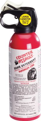 Hunting Be prepared for unexpected guests crossing your path with the Counter Assault 10.2-oz. Bear Deterrent with Holster. EPA registered in all 50 states, its the only bear deterrent that meets or exceeds recommendations by the Interagency Grizzly Bear Committee. Spray uses an atomized fogger blast for maximum coverage and slow dissipation. Formula with 2% capsaicin and related capsaicinoids provides ample potency to trigger the involuntary eye closure and intense burning that stop bears in their tracks and causes them to retreat. Deterrent has a 9.2-second continuous spray time that is effective up to 32 feet. Includes tie string that attaches to a glow-in-the-dark safety wedge. Belt holster included for at-the-ready storage. Four-year shelf life. Recipient of IGBCs Grizzly Bear Stewardship Award. - $54.99