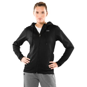 Fitness WHY WE MADE IT: Some athletic brands think you make a cold-weather sweatshirt by using thicker materials. Not us-that'll only weigh you down more. That's why we built a dual-layer, lightweight Women's Armour(R) Fleece Full Zip Hoodie. You get the warmth you want without the bulk. You also get a soft, brushed inner layer that wicks sweat out to the smooth, fast-drying surface where it can evaporate-so you stay drier and more comfortable. That's something old-school cotton just can't do. Train smarter. Grab a fleece hoodie that performs better-from Under Armour(R). This semi-fitted athletic hoodie delivers warmth without weighing you down, thanks to lightweight Armour(R) Fleece fabrication. Its soft, brushed inner layer traps heat and circulates it to keep your core temp regulated during intense training. And thanks to our signature Moisture Transport System, this hoodie wicks sweat away fast to keep you dry and light no matter how heavy your workout. We added a color-tipped drawcord for a custom, comfort fit-and a ribbed hem and cuffs for extra stretch. Wave goodbye to your old hoodies. This one's a keeper. Armour(R) Fleece fabrication delivers a brushed inner layer and a quick-drying, lightweight outer layerThe soft inner layer traps heat like a champ, keeping you warm and comfortableLightweight, 4-way stretch construction improves mobility for full range of motionSignature Moisture Transport System wicks sweat away from the body, so you stay drier, longerRibbed hem and cuffs add extra stretchUA Tech(TM) hood lining offers super-soft, on-demand protectionColored tip drawcord gives stylish, adjustable fitDual hand pockets add extra warmth and storageEmbroidered logo on front shows your preference for performance100% PolyesterImported - $32.99