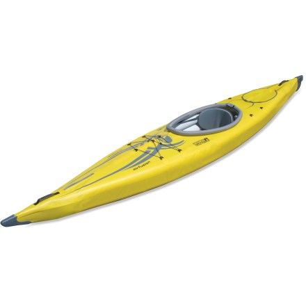 Kayak and Canoe This narrow-beam kayak is simple to set up, and its aluminum frame and high-pressure air chambers provide a high-performance hull comparable to a hard-shell kayak. - $673.93