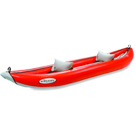 Kayak and Canoe This highly durable, self-bailing tandem inflatable kayak can be paddled with a friend or used solo, leaving plenty of room for your gear. - $560.93