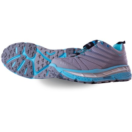 Fitness The women's Hoka One One Stinson Evo trail-running shoes bring lightweight cushioning to your jaunts through the woods. - $84.83