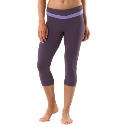 Fitness These formfitting Hatha capri leggings hug your body with moisture-wicking, 4-way stretch Powermax(TM) fabric for optimal comfort at the yoga studio or gym. - $54.93