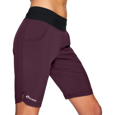 The SportHill Truckee II shorts are ideal for gym sessions and day hikes. They move with you for all-day comfort. Polyester/spandex blend fabric is moisture wicking and quick drying. No-roll, mesh-lined waistband features a concealed back zippered pocket. Gusseted crotch allows unrestricted range of motion. Hand pockets. Low-rise, straight-cut legs. Special buy. - $30.73