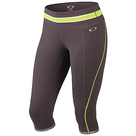 Fitness Free Shipping. Oakley Women's Night Run Capri DECENT FEATURES of Oakley Women's Night Run Capri O Hydrolix(TM) fabric keeps moisture to a minimum Reflective trim stands out when training at night Anti-bacterial action keeps odor-causing microbes to a minimum UV+ 50 fabric protects your skin from the sun 4-way stretch O-Form fabric creates optimum range of motion Reflective logo at front hip and back leg The SPECS 90% Supplex Nylon, 10% Lycra - $72.00