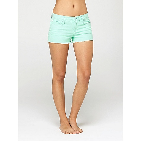 Surf On Sale. Roxy Women's Carnival Short DECENT FEATURES of the Roxy Women's Carnival Short 84% Cotton 15% Polyester 1% Spandex stretch denim 5 pkt stretch denim short with raw hem Inseam: 2.25in. - $35.60