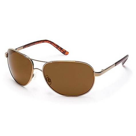 Entertainment The Suncloud Aviator Polarized Sunglasses Are a metal frame with the aviator look. The metal alloy frame brings the classic look with spring hinges for a Fit that stays put. Adjust the nose pads as necessary to prevent them from slipping as you zoom down the freeway or take off in flight. The polarized lenses provide 100% protection from UV rays, so your vision stays clear on the brightest days. Features of the Suncloud Aviator Polarized Sunglasses Polarized Injection Polycarbonate lenses Silicone nose pads Spring hinges on select styles 100% protection from harmful UVA and UVB rays Microfiber cleaning/storage bag 8 base lens curvature - $59.99