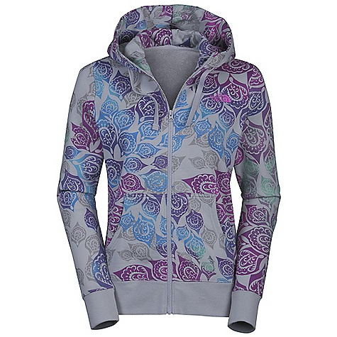 Free Shipping. The North Face Women's Atami Full Zip Hoodie DECENT FEATURES of The North Face Women's Atami Full Zip Hoodie Soft, comfortable, easy-care fabric Water-based all-over print Embroidered logo at left chest Kangaroo hand pockets Rib at cuffs and waistband The SPECS Source: Imported Fabric: 80% cotton, 20% polyester fleece This product can only be shipped within the United States. Please don't hate us. - $74.95