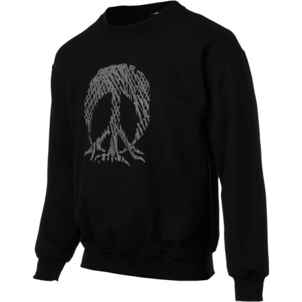 Gnarly Scribble Crew Sweatshirt - Men's - $21.98