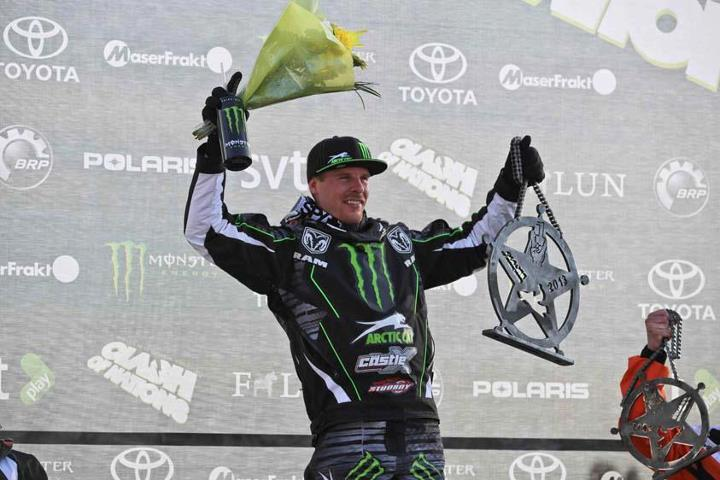 Snowmobile Tucker Hibbert Closes Snocross Season with a Victory in Sweden