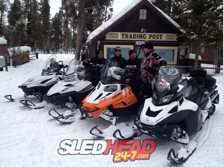 Snowmobile Q: What do you get when you cross an rhinoceros with a snowmobile?   A: The Utility sleds!   If you get the chance, ride one of these machines.  They go through anything and are often overlooked. Each brand offers great touring capabilities as well as fea