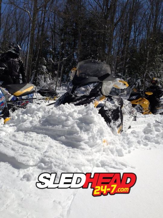 Snowmobile We're still riding in the Midwest.  This late season snow is the best we've ridden in all year!