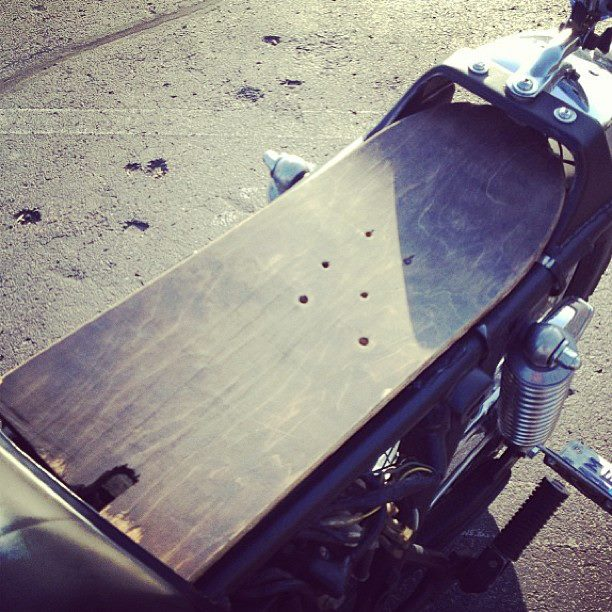 Auto and Cycle DIY Friday- Skateboard Motorcycle Seat!