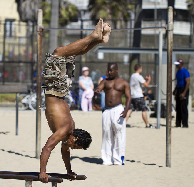 Fitness Handstand at Muscle Beach