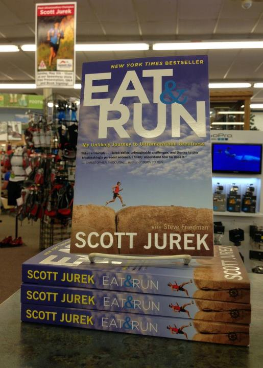 Fitness Less than two days until Scott Jurek visits Summit Hut!  We'll have copies of Scott's New York Times Bestseller 'Eat & Run: My Unlikely Journey To Ultramarathon Greatness' available for the book that will follow a presentation and Q&A session.  Also a rem
