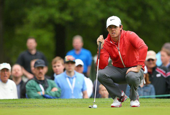 Golf Is Rory back? McIlroy ran off six birdies in a seven-hole stretch around the turn and finished with an 8-foot birdie putt for a 5-under-par 67 to share the lead with six others yesterday at the Wells Fargo Championship. 