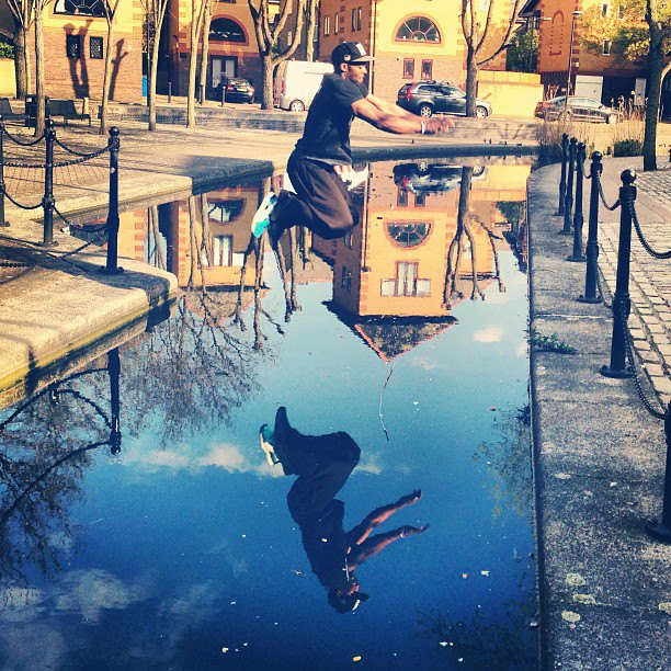 Parkour Training around Canada Water with @rickyjayrock