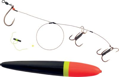 Targeting giant muskies? Set yourself up for success with a Premium Quick-Set Sucker Rig with Float from Joe Bucher. Rig up a sucker and find out why this traditional, cold-water technique has been bringing in the monsters for nearly 100 years. Built with ultrastrong components, double treble hooks and a highly visible float. Per each. Available: 18 Premium Rig 24 Premium Magnum Rig - $16.59
