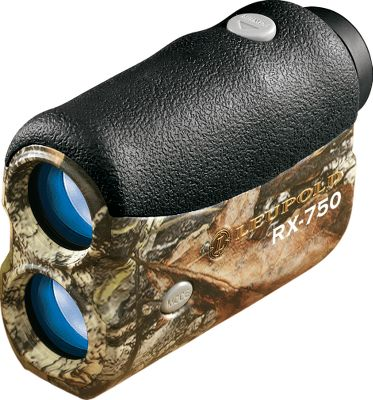 Once you've experienced the superior technology the RX-750 has to offer, all other rangefinders may seem ballistically challenged. The RX-750 has True Ballistic Range capability - a revolutionary technology that uses a built-in inclinometer to provide ballistic range rather than straight-line distance to the target. Includes three archery and seven rifle ballistics settings that make it quick and easy to place shots with consistent accuracy. Rifle settings work in conjunction with Leupold's Ballistic Aiming System reticles for long-range shooting applications. Enhanced digital signal processing and a simplified Quick Set Rotary Menu make it quick and easy to obtain accurate distance measurements. Get a closer look at your target using the 6X magnification and three user-selectable reticles. All lenses are multicoated to alleviate light loss. Weatherproof. Displays distance in yards and meters. Fold-down eyecups. Field of view: 325 ft.Colors: Black, Mossy Oak Break-Up . - $199.88