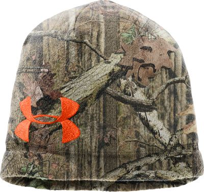 Hunting Made of 100% high-pile polyester fleece, the super-soft Under Armour Camo Fleece Beanie is great for cold days in the field. ColdGear technology wicks away moisture while trapping heat to keep you warm and dry. Available in two popular camo patterns accented by the bright orange Dynamite UA logo. Low-profile fit. One size fits most. Imported.Camo patterns: Mossy Oak Break-Up Infinity, Realtree XTRA. Type: Beanies. Size: One Size Fits Most. Camo Pattern: REALTREE XTRA. Size One Size Fits Most. Color Realtree Xtra. - $19.99