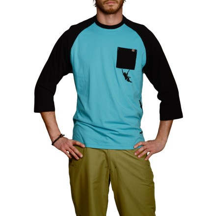 Climbing There's no doubt that rock climbing pushes your limits, but the soft yet durable Talus T-shirt from blurr is designed to take you from the crag to the campfire without sacrificing comfort. Lightweight, stretchy organic cotton with added polyester offers next-to-skin softness and durability. 3/4 raglan-style sleeves stay out of the way while your hands reach for the next hold. Active fit skims the body without being too tight. Overstock. - $14.73