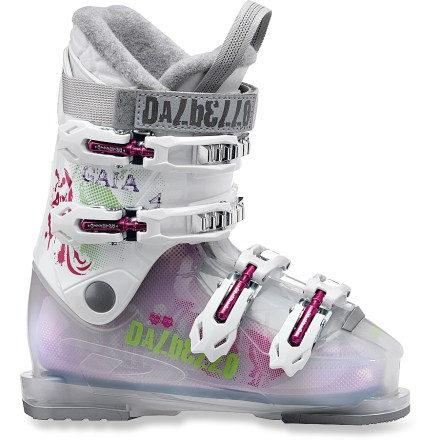 Ski These Dalbello Gaia 4 girls' ski boots offer your little shredder the comfort and performance she deserves. - $59.83