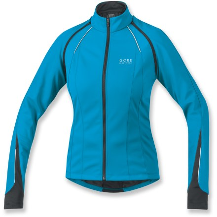 Fitness The GORE BIKE WEAR Phantom 2.0 Soft-Shell Lady bike jacket is a smart choice for fall-to-spring riding. Its detachable sleeves let it double as a long-sleeve jacket and a short-sleeve jersey! - $89.83