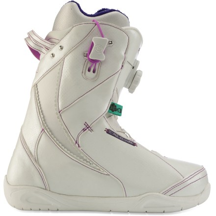 Snowboard Sweeping, textured lines on the shell define the K2 Sapera boot aesthetics. Conda single-pull lacing locks liners from the outside and single Boa(R) Coiler adjusts exteriors with a quick twist. - $99.83