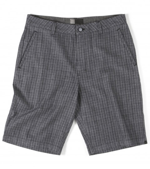 Surf O'Neill Harding Shorts.  100% Cotton.  Yarn dye plaid walkshort with silicone wash. Standard fit; front welt pockets; novelty welts at back packets; novelty buttons; logo labels and embroideries; contrast interior waistband and binding. - $54.50
