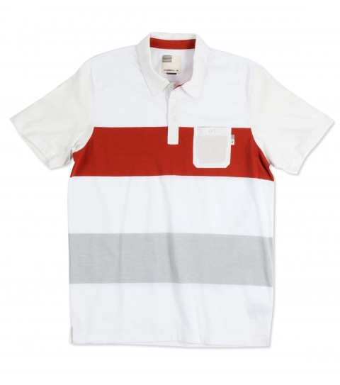 Surf O'Neill Pinto Polo Shirt.  100% Cotton jersey.  Engineered yarn dye stripe polo with garment wash. Standard fit with chest pocket; side vents and logo labels. - $23.99