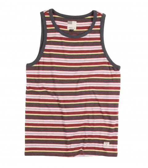 Surf O'Neill Exposure Tank.  100% Cotton jersey.  Yarn dye heathered stripe tank with garment wash. Standard fit with logo labels. - $17.99