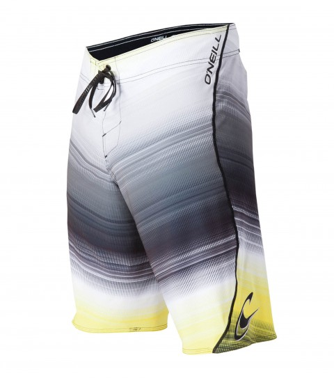 "Surf O'Neill Hyperfreak Boardshorts.  Hyperfreak stretch.  21"" outseam boardshort features superfly closure; locking drawcord; no inseam; welded pocket and screened logos. - $34.99"