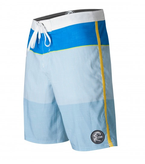 "Surf O'Neill Emporium Boardshorts.  Epicstretch.  20"" outseam shortie boardshort features contrast waistband and sideseam binding; superfly closure; back pocket; front key pocket; circle surfer patch; embroidery and screened logos. - $35.99"
