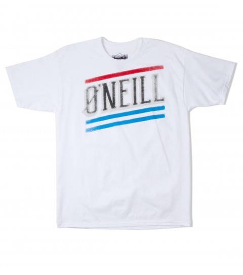 Surf O'Neill Tripwire Tee.  100% Cotton.  20 singles classic fit tee with softhand screenprint. - $15.99