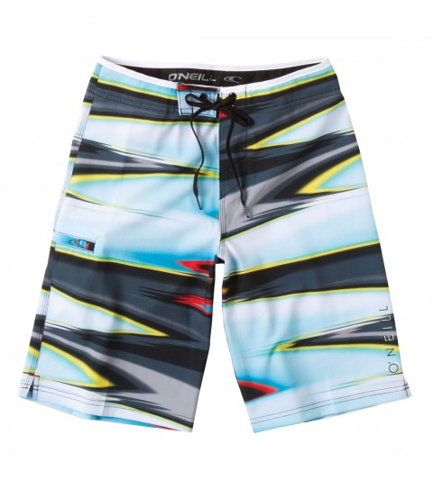 "Surf O'Neill Boys Materialize Boardshorts.  Epicstretch.  19"" outseam boardshort features superfly closure; contrast waistband binding; single welt side pocket; embroidery and screened logos. - $48.00"