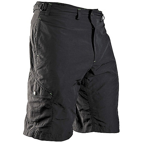 MTB Free Shipping. Cannondale Men's Rush Baggy Short DECENT FEATURES of the Cannondale Men's Rush Baggy Short Lightweight Hi-Drive fabric has a ripstop construction with a DWR treatment Content: 100% nylon Hand pockets plus two cargo pockets with snap closure Removable liner short Gusseted crotch improves on-bike mobility Inseam: 11.5in. / 29 cm Adjustable tabs at waistband EZ-Flex Chamois - $74.95
