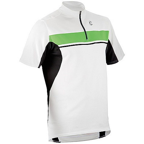 Free Shipping. Cannondale Men's Ride Jersey DECENT FEATURES of the Cannondale Men's Ride Jersey Re-spun 150 has soft hand with great wicking properties Contents: 100% polyester Men's: 7in. / 18 cm front zipper, Women's: 10in. / 25.5 cm front zipper Two back pockets, plus a pump pocket Reflective accents add visibility UPF Range: Excellent Relaxed fit - $54.95