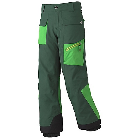 Free Shipping. Marmot Boys' Mantra Insulated Pant DECENT FEATURES of the Marmot Boys' Mantra Insulated Pant Marmot MemBrain Waterproof/Breathable Fabric 100% seam taped 2-layer construction Zippered Hand Pockets Cargo Pocket with Water Resistant Zipper Zippered Back Pockets with W/R Zippers Adjustable Snap Closure Waist with Fly Zip Interior Zippered Leg Vents Ankle Zips with W/R Zippers Internal Gaiters with Gripper Elastic Articulated Knees Cordura Scuff Guard The SPECS Weight: 1 lb 3 oz / 538.6 g Material: MemBrain 10 2L 100% Polyester 4.1 oz/yd Fit: Regular - $89.95