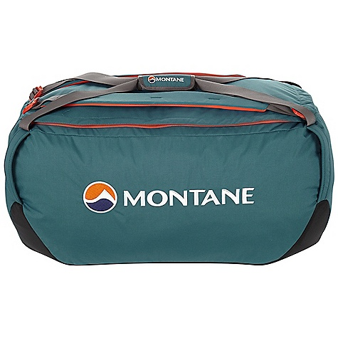 Entertainment Whether you're carrying stuff on an expedition or through an airport, the Transition Duffel has got you covered. Durable GRANITE Ballistic fabric at the base is waterproof to protect your goodies from the wet ground. The bag itself is lined with a water resistant fabric and the main body fabric is rugged and lightweight to protect your precious cargo. A shoulder harness lets you carry it like a backpack and tough handles at each corner let you just grab it and go or even tie it down to something else, or strap something to it. Features of the Montane Transition 100L Duffle Constructed from Raptor UTL in the body, a 500 denier fabric with tough Performance qualities on a par with 1,000 denier fabrics, yet half the weight Granite Ballistic base fabric is waterproof and exceptionally tough Super lightweight Halo lining fabric has a 1m hydrostatic head and offers additional protection to contents Contact Mesh fabric on inner arm harnesses prevents abrasion against waterproof jackets Rucksack shoulder harness for easy manual carries Big, easy, central grab handle with Velcro sleeve fastening to secure together Durable zip with storm baffle Large top load opening allowing for complete access to contents Internal top lid mesh pocket for separation of small, essential Items of clothing and equipment Tough grab handles at each corner for easy manual lifting These can also be used as tie points for transportation Extra internal side pocket with reversed zips Side ID sleeve with reversible identity card Montane custom made glove and mitt friendly zip pulls Activities: Basecamp / Travel - $92.99