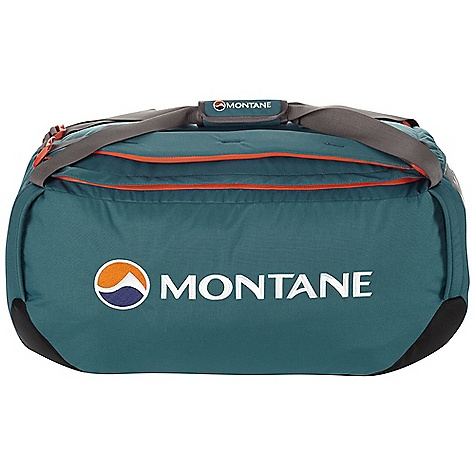 Entertainment Whether you're carrying stuff on an expedition or through an airport, the Transition Duffel has got you covered. Durable GRANITE Ballistic fabric at the base is waterproof to protect your goodies from the wet ground. The bag itself is lined with a water resistant fabric and the main body fabric is rugged and lightweight to protect your precious cargo. A shoulder harness lets you carry it like a backpack and tough handles at each corner let you just grab it and go or even tie it down to something else, or strap something to it. Features of the Montane Transition 60L Duffle Constructed from Raptor UTL in the body, a 500 denier fabric with tough Performance qualities on a par with 1,000 denier fabrics, yet half the weight Granite Ballistic base fabric is waterproof and exceptionally tough Super lightweight Halo lining fabric has a 1m hydrostatic head and offers additional protection to contents Contact Mesh fabric on inner arm harnesses prevents abrasion against waterproof jackets Rucksack shoulder harness for easy manual carries Big, easy, central grab handle with Velcro sleeve fastening to secure together Durable zip with storm baffle Large top load opening allowing for complete access to contents Internal top lid mesh pocket for separation of small, essential Items of clothing and equipment Tough grab handles at each corner for easy manual lifting These can also be used as tie points for transportation Extra internal side pocket with reversed zips Side ID sleeve with reversible identity card Montane custom made glove and mitt friendly zip pulls Activities: Basecamp / Travel - $81.99