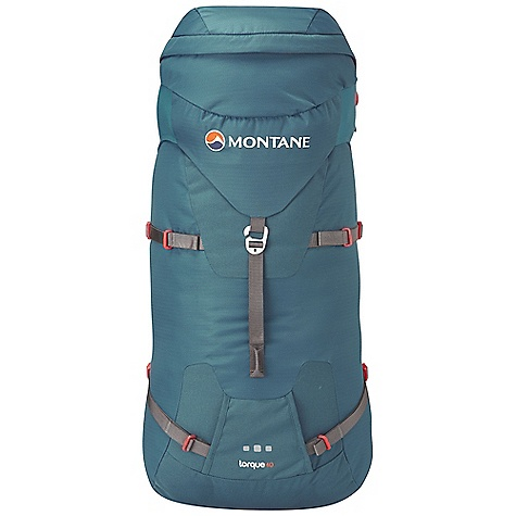 Climbing On Sale. Free Shipping. Montane Torque 40L Pack FEATURES of the Montane Torque 40L Pack Constructed from lightweight Raptor TL fabric in the main body which is tough yet exceptionally lightweight. Features a superb DWR and tear resistance Raptor UTL ultra tough, lightweight panels on the base, 'Dual Tool' area, upper front, top rear and rear sides for additional abrasion protection against rock surfaces Granite Stretch skirt lid side panels give a clean fabric hugging lid closure and additional storm protection with a sleek shape Moulded Montane 'Comfort Back Pad' features channels that wick sweat and rainwater away from the body and give additional ventilation 'VertErgo Climb' back system provides strength, support and comfort when carrying heavy loads It can be also be manipulated to fit the user's back for a specific tailored fit Removable 'VertErgo Climb' panel helps reduce weight if extreme weight saving and minimalism is required Features an HDPE stiffened panel across the top of the back panel which provides structure for top tension straps to torque off Stiffened panel is scooped to allow for head and climbing helmet space Two top shoulder tension straps allow the pack weight to pull close to the body and control the pack stability for the required terrain Removable hip belt prevents interference with climbing harness belt and can be used as additional compression in the middle of the pack during long climbs Two lightweight, tough buckles release hip belt from the pack Includes a removable bivvy mat that is folded lengthways, reducing crease lines and helping to eliminate cold spots as well as provide a larger sleeping area Waterproof shell friendly 'Contact Mesh' on the shoulder straps and Montane 'Comfort Back Pad' facings prevent abrasion on shell clothing when the pack is full to capacity and with heavy use Enhanced 'Dual Tool' reversed clean technical ice axe attachment system with tight locking compression straps to safely lock down axes when not in use Ice axes can be reversed to an 'Alpine safe' position for increased safety when moving quickly or under tilted movement Large top 'buddy pocket' for front access whilst on the move, perfect for storage of guide books etc. and large enough for the storage of an OS map Large flap over buddy pocket to protect zip against upward abrasive movement over rock surfaces Extendable top lid with compression straps for increased height to accommodate bulky rope coil etc. Chest harness with left hand clip prevents bulky buckles over the sternum and increases comfort with its low profile Four symmetrical single hand side pulls offer effective compression around pack contents and help provide additional stability Stiffened front lid panel with lightweight glove and mitt friendly metal buckle that will also work in extreme cold and hostile conditions Space saving efficient top lid front pull allowing for good vertical pack compression Wide mouth central opening with 'Cord Lord' quick release mechanism Extendable internal top sleeve for extra storm protection of contents with double compression on outside opening and internal sleeve opening with 'Cord Lord' quick release mechanism Internal top compression over mouth opening for secure rope storage Reversible mitt and glove friendly locking webbing buckles Body curve hip fins for great comfort and strong stability when on the move whatever the terrain Double tension waist harness for extra stability, pack weight equalization and ease of use while on the move Internal security pocket featuring vertical upside down zippered entry preventing coin and key loss. Also features a key clip Left and right hip gear loops for clipping spare hardw - $145.99