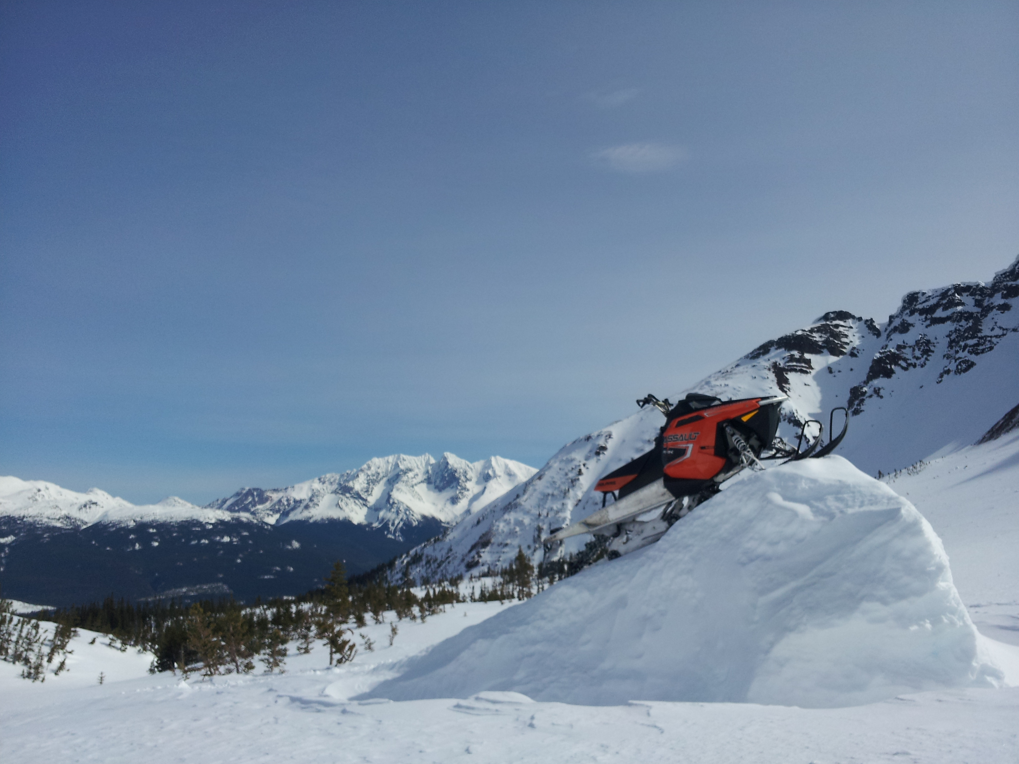 Snowmobile Smithers BC  At the Microwave Mountain