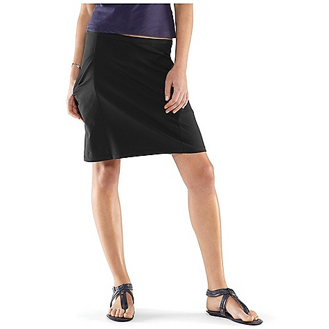 Free Shipping. Nau Women's Floret Skirt DECENT FEATURES of the Nau Women's Floret Skirt Elastic waist with drawcord 2 drop in hand pockets Top of the knee length 17in. The SPECS Weight: 7.9 oz Regular fit A blend of 55% organic cotton 37% Tencel 8% spandex in a soft knit with stretch for movement (249 grams/m2) - $54.95