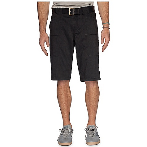 Free Shipping. Nau Men's Amble Short DECENT FEATURES of the Nau Men's Amble Short Zip fly with durable, reinforced cargo-button waist Two front angled hand pockets and two back pockets with button flap closures Tailored Details: Topped-on patch pockets The SPECS Weight: 9.2 oz Regular fit Inseam: 13in. 60% organic cotton 40% recycled polyester Heathered herringbone single weave 6 oz spring/summer weight with the quick dry of poly mixed with the comfort and look of cotton - $114.95