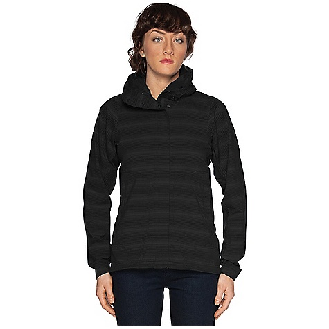 Free Shipping. Nau Women's Lightbeam Jacket DECENT FEATURES of the Nau Women's Lightbeam Jacket Lightbeam fabric is ultra-lightweight and super packable DWR-treated full zip-front is concealed with a wind flap for extra protection Foldaway hood with one-way adjustable drawcord easily rolls into collar Two hand pockets secured with hidden zippers, and one internal security pocket keeps valuables close Elasticized cuffs and drawcord waist The SPECS Weight: 8.9 oz Regular fit Teijin Ecocircle technology 100% recycled polyester in a soft shell pucker weave featuring two-way stretch and DWR finish for water repellency - $184.95