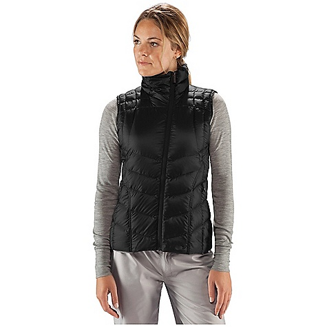 Free Shipping. Nau Women's Down Vest DECENT FEATURES of the Nau Women's Down Vest Insulation - 800 fill goose down Offset reverse coil DWR front zip with wind flap 2 zip hand pockets The SPECS Weight: 5 oz Shell and Lining: 32 denier recycled polyester ripstop DWR Insulation: 800 fill down - $154.95